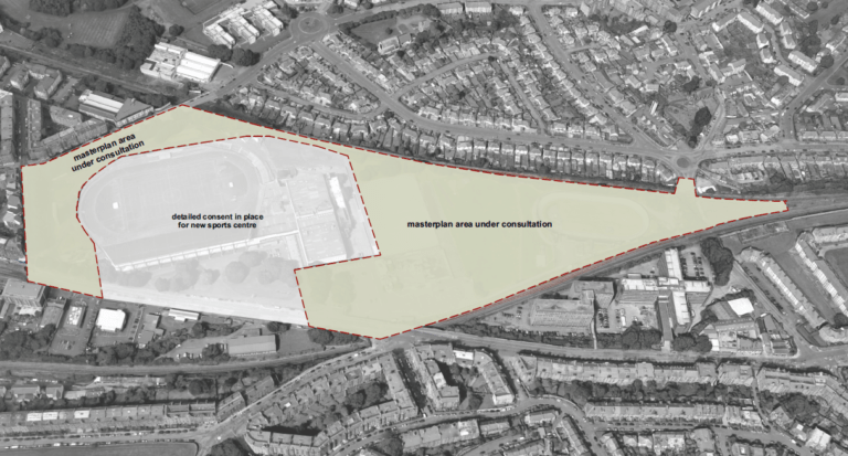Image shows: a map of green roof development in Meadowbank, Edinburgh