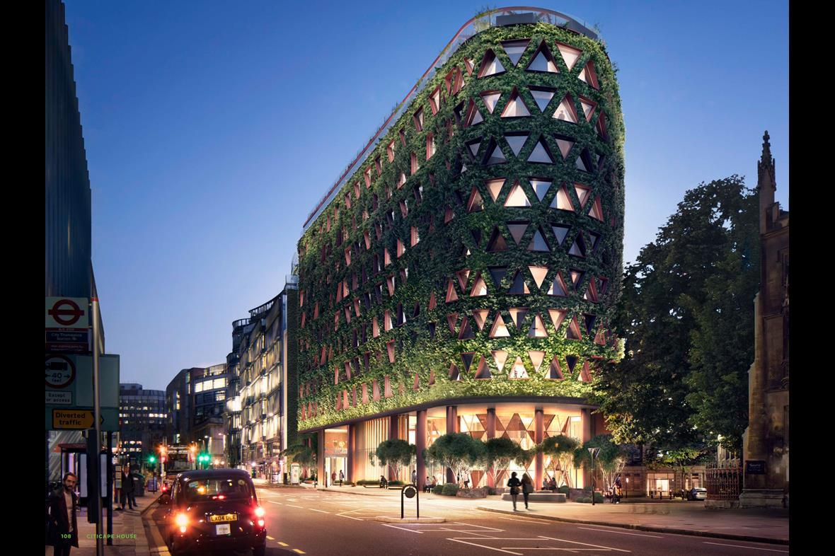 Image: The living wall at Citicape, London, UK Upon completion this is expected to be the largest green wall in Europe.