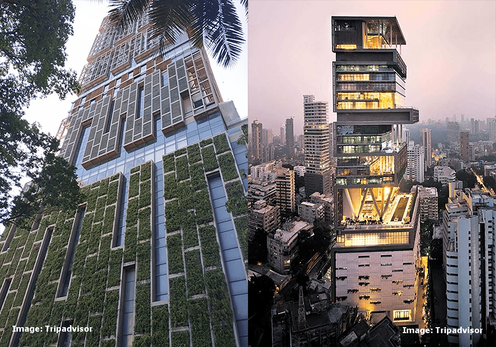 Image shows Antilia, Mumbai is the second most expensive residence in the worl