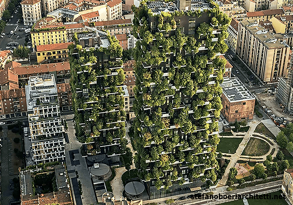 The abundant greenery has helped make the twin towers Bosco Verticale 'vertical forest' some of the most sort-after in Milan, Italy