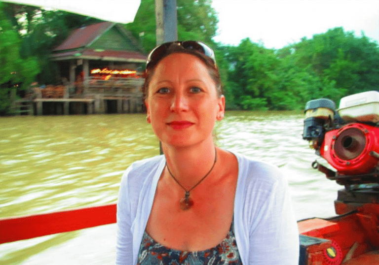 Nikki Errington – MD of MMA Architectural - photographed on a boat