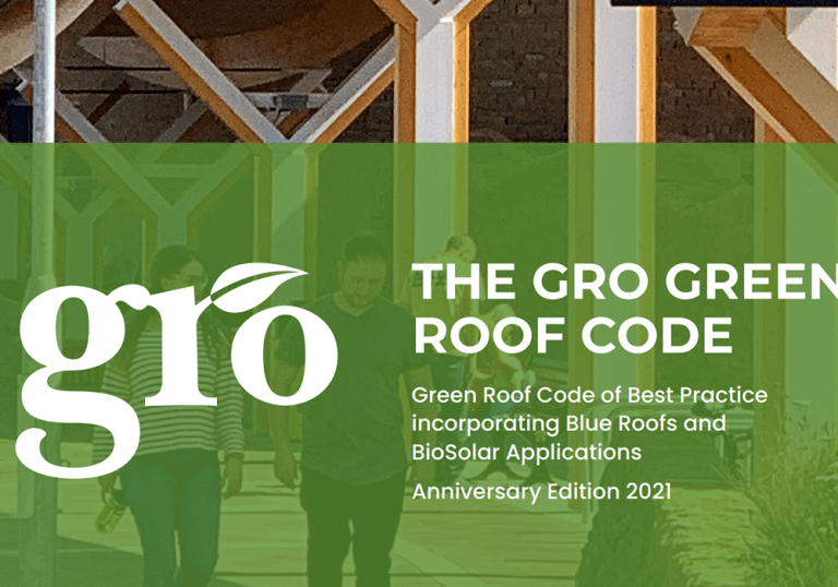 New 2021 Green Roof guidelines now includes blue roofs (SuDS), biosolar roofs and biodiversity net gain BNG. Three key drivers of living roofs.