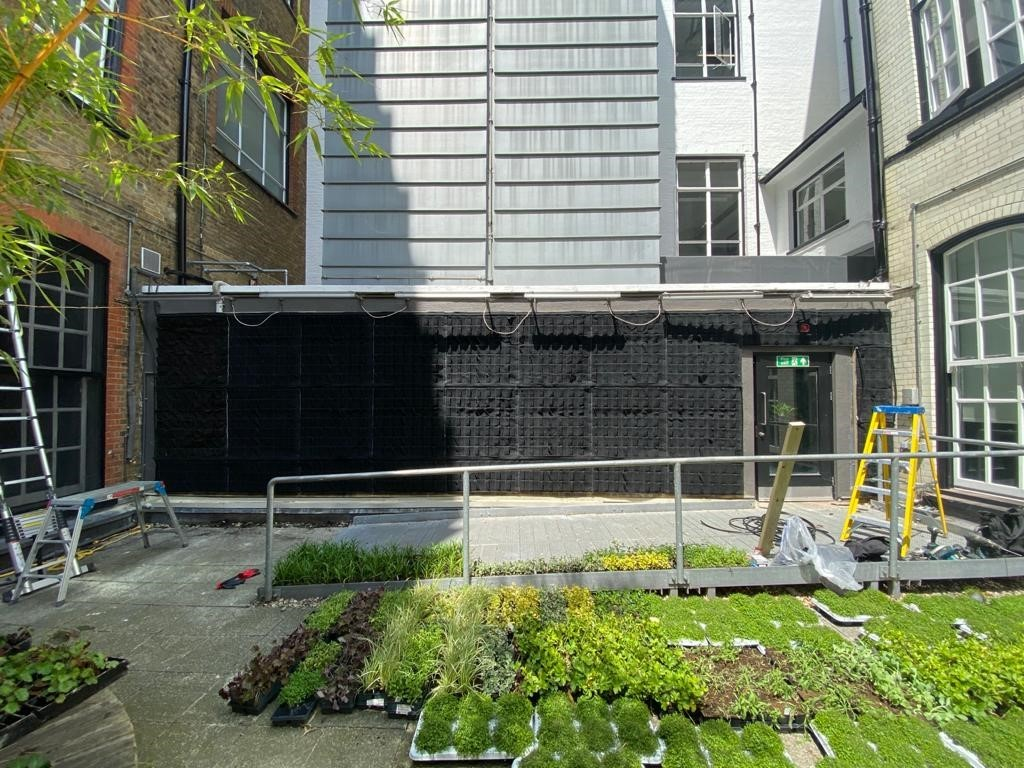 Fytotextile Living wall system installation at City University