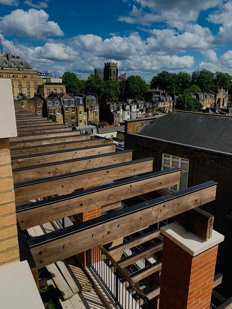 Stainless Steel greening ropes installed in Knightsbridge
