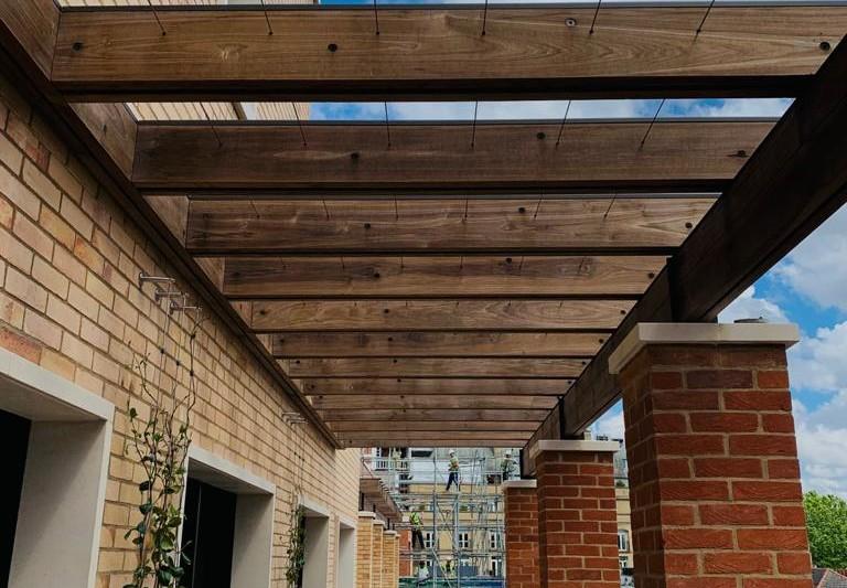Stainless Steel Greening rope used on Pergolas in Knightsbridge